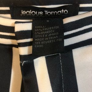 Jealous Tomato Pants - Blank and white striped Bells